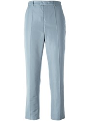 Red Valentino Tailored Cropped Trousers Blue