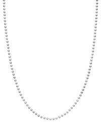 Giani Bernini Sterling Silver Necklace 18' Shot Bead Chain