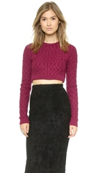 For Love And Lemons Knitz Bobcat Sweater Merlot