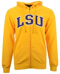 Knights Apparel Men's Lsu Tigers Arch Full Zip Hoodie Gold Purple