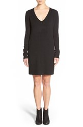 Junior Women's Bp. Long Sleeve V Neck Sweater Dress