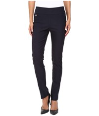 Lisette L Montreal Solid Magical Lycra Slim Pants Navy Women's Casual Pants