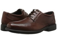 Bostonian Ipswich Brown Smooth Leather Lace Up Moc Toe Shoes