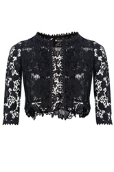 Quiz Black Lace Crop Jacket