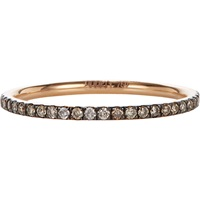 Champagne Diamond And Pink Gold Thread Band