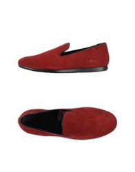 Hogan Moccasins Brick Red