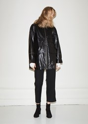 Helmut Lang Leather Anorak Black 001