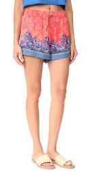 Free People San Paulo Shorts Red