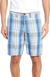 Tommy Bahama Men's Big And Tall Corfu Plaid Shorts Ocean Deep