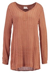 Kaffe Louisa Amber Tunic Glazed Caramel Red Metallic