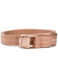 Off White Industrial Belt Pink