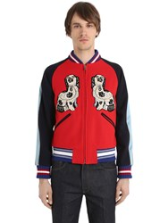 Gucci Embroidered Wool Felt Bomber Jacket
