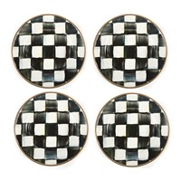 Mackenzie Childs Courtly Check Canape Plate Set Of 4