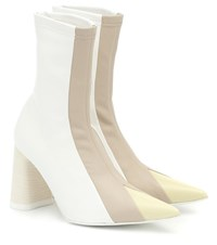 Ellery Helga Leather Ankle Boots White