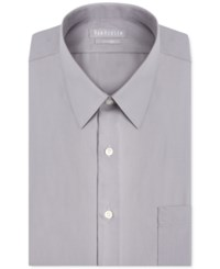 Van Heusen Fitted Poplin Dress Shirt Gray