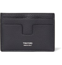 Tom Ford Grained Leather Cardholder Navy