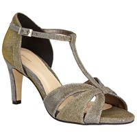 John Lewis Dorothy Occasion Cone Heeled Sandals Gold
