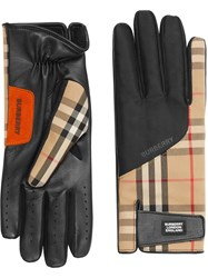 Burberry Vintage Check Gloves Neutrals