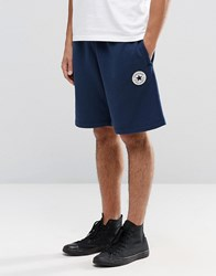 Converse Chuck Patch Jersey Shorts In Blue 10002136 A02 Blue