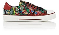 Valentino Women's Butterfly Embroidered Canvas Sneakers No Color