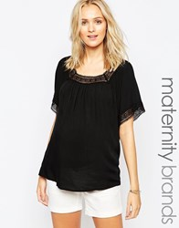Ripe Maternity Peasant Top Green