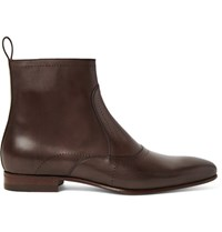 Gucci Leather Chelsea Boots Chocolate