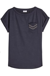 Brunello Cucinelli Wool T Shirt With Embellishment