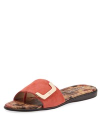 Donald J Pliner Bolt Suede Slide Orange