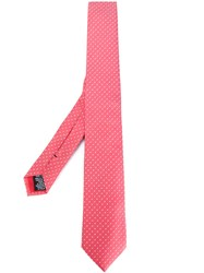 Paul Smith Polka Dots Patterned Tie Pink Purple
