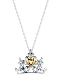 Disney Crown Pendant Necklace In Sterling Silver