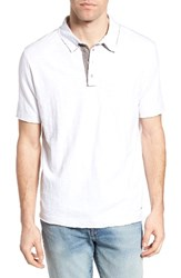 True Grit Men's Slub Jersey Polo White