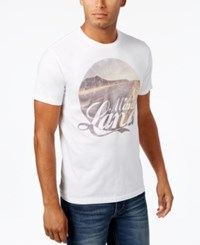 American Rag Men's Graphic Print Cotton T Shirt Only At Macy's White