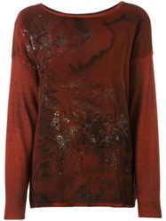 Avant Toi Patterned Jumper Women Silk Cashmere S Red