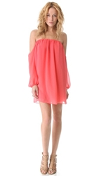 Tbags Los Angeles Off Shoulder Dress Coral