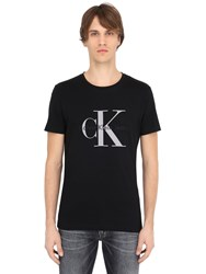 Calvin Klein Jeans Essential Printed Cotton Jersey T Shirt