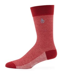 Penguin Parlour Birdseye Socks Red