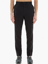 Our Legacy Black Textured Cotton Trousers