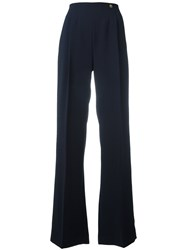 Versace Collection Flared Pants Blue