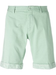 Etro Paisley Trim Chino Shorts Green