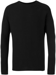 Manuel Marte Fine Knit Jumper Men Cotton Cashmere M Black