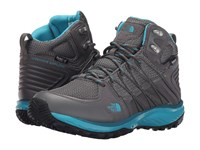 The North Face Litewave Explore Mid Wp Steeple Grey Bluebird Women's Hiking Boots Gray