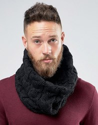 French Connection Cable Snood Black