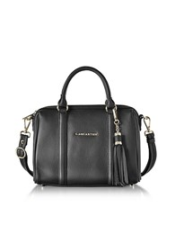Lancaster Paris Mademoiselle Ana Grained Leather Small Duffle Bag Black