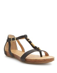 Me Too Nikki Leather Sandals Black