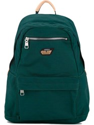 As2ov Front Pocket Backpack Men Nylon One Size Green