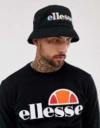 5cf531213 Lomba Bucket Hat With Embroidered Rainbow Logo In Black