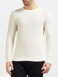 Gant Rugger Solid Texture Crew Neck Jumper Warm Almond