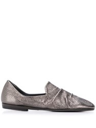 Pantanetti Gathered Front Loafers Grey