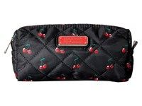 Marc By Marc Jacobs Crosby Quilt Nylon Fruit Cosmetics Narrow Cosmetic Cherry Print Cosmetic Case Red