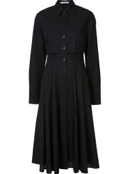 Tome Long Sleeve Shirt Dress Black